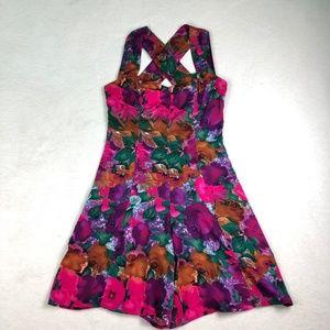 Dresses & Skirts - VINTAGE Bold MultiPrint Sweetheart Neckline Romper